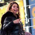 Maria Menounos lors des préparatifs du Nouvel An à Times Square à New York, le 30 décembre 2017