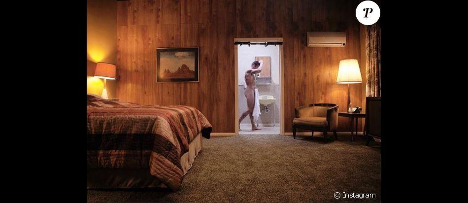 Ricky Martin, nu, dans une vidéo diffusée pendant ses concerts à Las Vegas. Janvier 2018