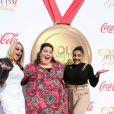 """Chrissy Metz, Nadia Comaneci, Laurie Hernandez -Événement """"Gold Meets Golden"""" à Los Angeles le 6 janvier 2018."""