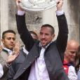 Franck Ribéry - Le Bayern de Munich célèbre sa victoire en Bundesliga et devient champion d'Allemagne pour la 25ème fois. Le 24 mai 2015.