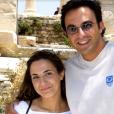 Nikos Aliagas il y a bien années au côté de sa soeur.