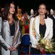Pauline Ducruet et la princesse Stéphanie de Monaco lors de la soirée d'ouverture du 42e Festival International du Cirque de Monte-Carlo le 16 janvier 2018. © Olivier Huitel/Pool/Bestimage