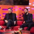 Helen Mirren, Liam Neeson et Jamie Dornan lors du tournage du Graham Norton Show le 18 janvier 2018 - diffusion vendredi 19 janvier sur BBC ONE.