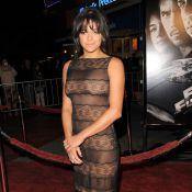 Michelle Rodriguez tout en transparence, entre Paul Walker et Vin Diesel... pour une furieuse soirée !