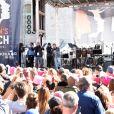 """Mila Kunis, Scarlett Johansson - Les célébrités lors des manifestations géantes aux États-Unis pour la 2e """"Marche des femmes"""" à Los Angeles le 20 janvier 2018."""