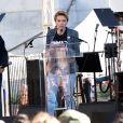 """Scarlett Johansson - Les célébrités lors des manifestations géantes aux États-Unis pour la 2e """"Marche des femmes"""" à Los Angeles le 20 janvier 2018."""
