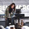 """Idina Menzel - Les célébrités lors des manifestations géantes aux États-Unis pour la 2e """"Marche des femmes"""" à Los Angeles le 20 janvier 2018."""