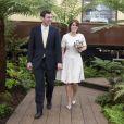 La princesse Eugenie d'York et son compagnon Jack Brooksbank en mai 2016 au Chelsea Flower Show. La princesse Eugenie et Jack se sont fiancés en janvier 2018 au Nicaragua et leur mariage sera célébré à Windsor à l'automne 2018, a révélé Buckingham Palace le 22 janvier 2018.