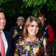 La princesse Eugenie d'York et son compagnon Jack Brooksbank en juin 2017 lors de la soirée d'été annuelle de la galerie Serpentine à Londres. La princesse Eugenie et Jack se sont fiancés en janvier 2018 au Nicaragua et leur mariage sera célébré à Windsor à l'automne 2018, a révélé Buckingham Palace le 22 janvier 2018.