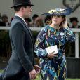 La princesse Eugenie d'York et son compagnon Jack Brooksbank assistent aux courses du Royal Ascot 2017 à Londres le 23 juin 2017.