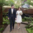 La princesse Eugenie d'York et son compagnon jack brooksbank au Chelsea Flower show à Londres le 23 mai 2016. La princesse Eugenie et Jack se sont fiancés en janvier 2018 au Nicaragua et leur mariage sera célébré à Windsor à l'automne 2018, a révélé Buckingham Palace le 22 janvier 2018.