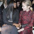 """Naomi Campbell et Emily Blunt - Défilé de mode Haute-Couture printemps-été 2018 """"Christian Dior"""" à Paris le 22 janvier 2018. © Olivier Borde / Bestimage"""