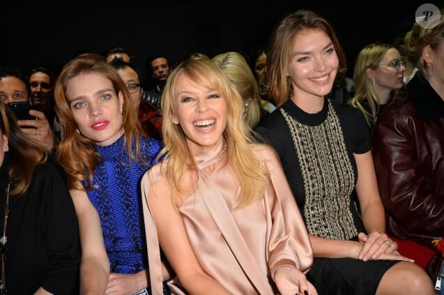 Natalia Vodianova, Kylie Minogue et Arizona Muse- Défilé Ralph & Russo, collection Haute Couture printemps-été 2018 à Paris. Le 22 janvier 2018. © CVS - Veeren / Bestimage