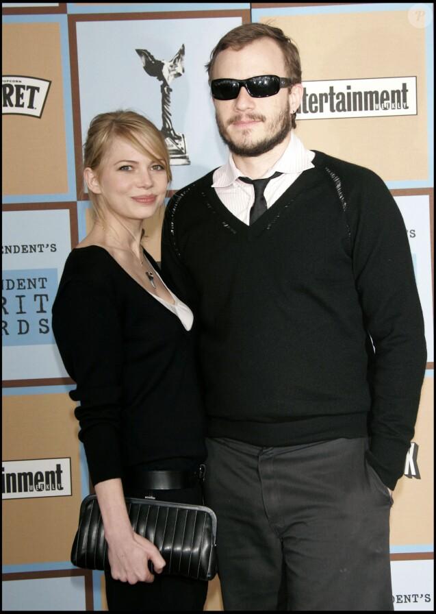 Michelle Williams et Heath Ledger à Santa Monica Beach, le 4 mars 2006.