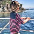 Sylvie Tellier en week-end dans le sud de la France avec sa petite famille. Avril 2017.
