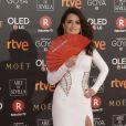Penelope Cruz (robe Versace) aux Goya 2018 à Madrid le 3 janvier 2018