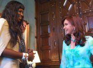 Après Castro, Naomi Campbell interviewe la Présidente argentine Cristina Fernandez