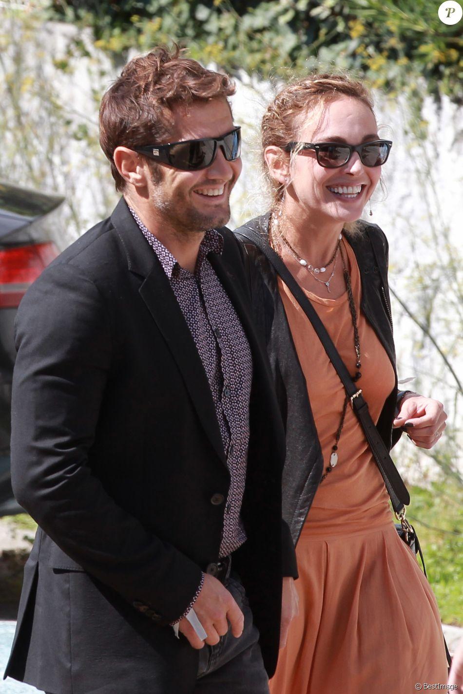 Bixente Lizarazu et Claire Keim au Cap-Ferret le 19 septembre 2015.