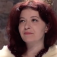 """Judith d'Aleazzo dans la pièce """"Les Reines"""" de Normand Chaurette en 2012."""
