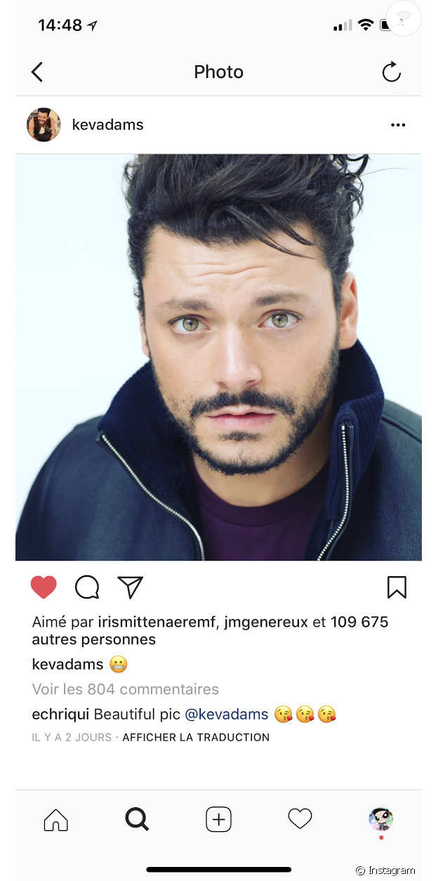 Iris Mittenaere a liké la photo de Kev Adams. Février 2018.