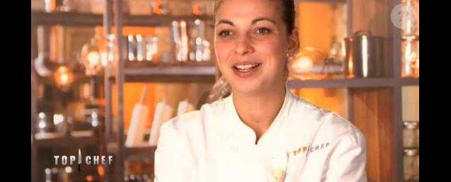 """Justine lors du quatrième épisode de """"Top Chef"""" diffusé le 21 février 2018 sur M6."""