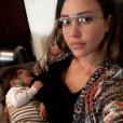 Jessica Alba et son fils Hayes. Février 2018.