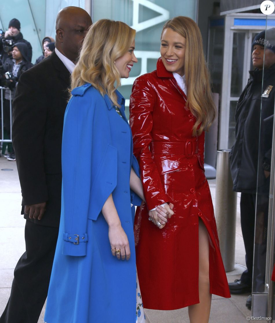 Blake Lively et Emily Blunt - Défilé Michael Kors Collection, collection prêt-à-porter automne-hiver 2018 au Lincoln Center. New York, le 14 février 2018.