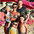 Wayne Rooney officialise la grossesse de sa femme Coleen, enceinte de leur quatrième enfant, sur Instagram le 18 août 2017.