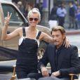 """Exclusif  - Johnny Hallyday sur le tournage de son nouveau clip """"Seul"""" (chanson de son nouvel album """"Rester Vivant""""), à Downtown Los Angeles, le 12 octobre 2014."""