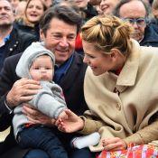 Christian Estrosi et Laura Tenoudji : 1er carnaval avec leur adorable Bianca