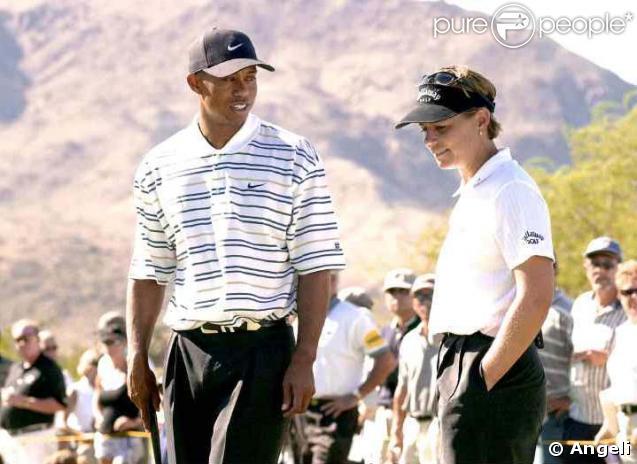 Annika Sörenstam et Tiger Woods en 2001