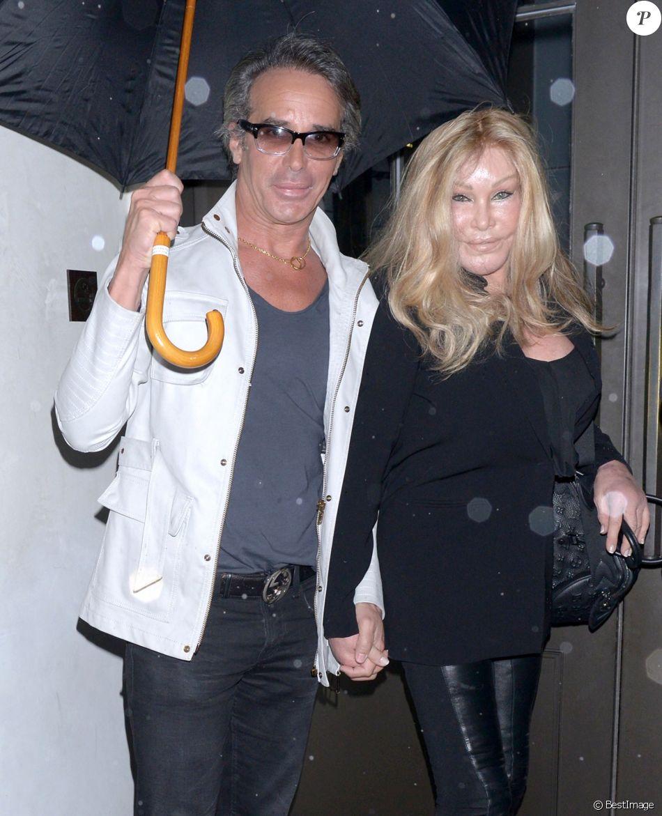 Jocelyn Wildenstein avec Lloyd Klein à Los Angeles. Le 6 mai 2013