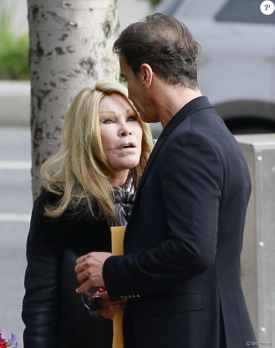 Exclusif - Jocelyn Wildenstein et Lloyd Klein ont dejeune au cafe Med a Los Angeles, le 31 janvier 2014.