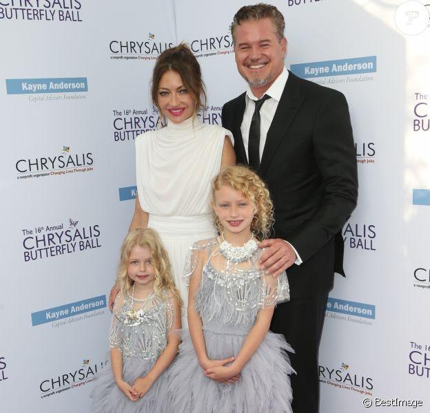 Rebecca Gayheart et Eric Dane avec leurs filles Georgia et Billie  au 16e Chrysalis Butterfly Ball à Los Angeles le 3 juin 2017.