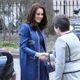 La duchesse de Cambridge, enceinte, visitait le 27 février 2018 le Royal College of Obstetricians and Gynaecologists à Londres, quelques heures après l'annonce de ce nouveau patronage. L'institution n'avait plus de marraine royale depuis la mort de la reine mère, en 2002.