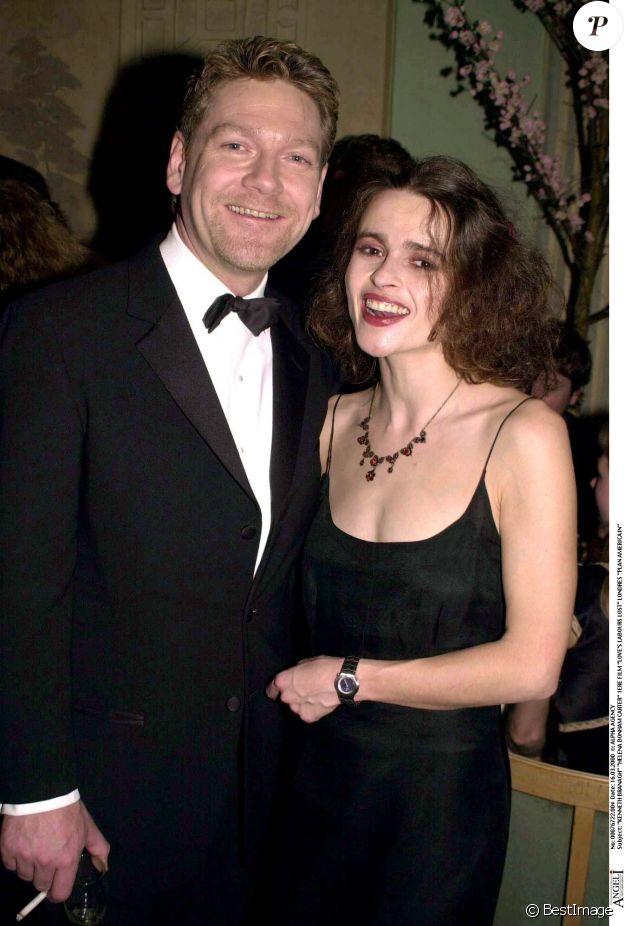 Kenneth Branagh et Helena Bonham Carter en 2000 à Londres