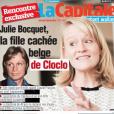"""Une du journal belge """"La Capitale"""", 2 février 2018. La fille cachée de Claude François, Julie Bocquet, s'exprime."""