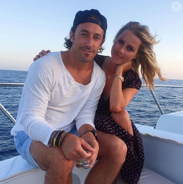 Claire Holt et son fiancé Andrew Joblon sur une photo publiée sur Instagram le 20 février 2018.