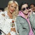 Gigi Gorgeous et Nats Getty au défilé de mode The Blonds lors de la Fashion Week de New York City, New York, Etats-Unis, le 13 février 2018.