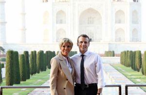 Brigitte et Emmanuel Macron amoureux radieux et impressionnés face au Taj Mahal