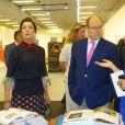 Semi-Exclusif - Le prince Albert II de Monaco et la princesse Caroline de Hanovre à l'inauguration de l'exposition Artmonte-carlo à Monaco le 28 avril 2017 © Claudia Albuquerque / Bestimage