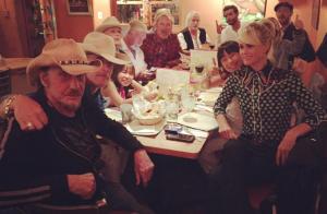 Johnny Hallyday le dernier dîner :