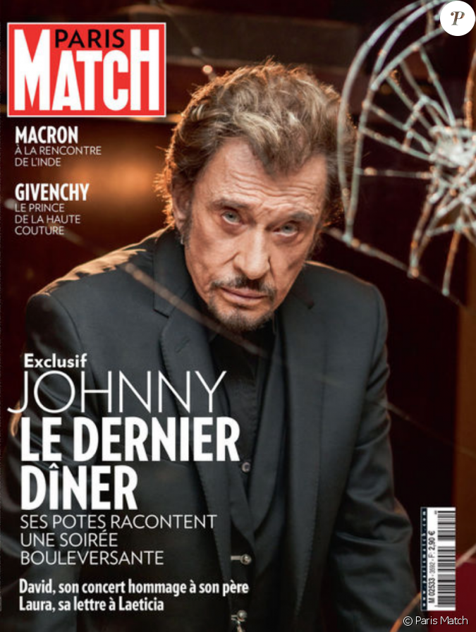 johnny hallyday le dernier d ner un r cit magnifique dans paris match en kiosques ce 15 mars. Black Bedroom Furniture Sets. Home Design Ideas