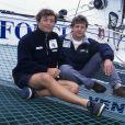 Yvan Bourgnon son frère Laurent le 2 octobre 1999 à la Trinité-sur-Mer