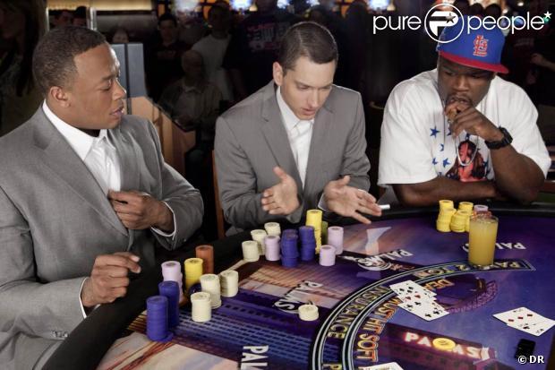 Eminem dans la peau de Rain Man avec Dr. Dre et 50 Cent ...