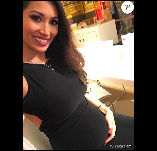 La Djette Angie, Angela, s'affiche enceinte de son compagnon Samuel Le Bihan - mars 2018