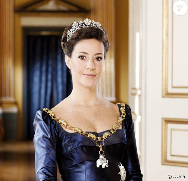 Marie de Danemark pose au Palais Amalienborg