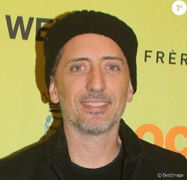 """Semi-exclusif - Gad Elmaleh - Projection privée de la série """"Holly Weed"""" au cinéma Mk2 Odéon à Paris, le 12 décembre 2017. © CVS/Bestimage"""