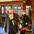 """Nicolas Sarkozy - Il s'est rendu sur le plateau de TF1 lors du journal télévisé de 20 heures après sa mise en examen puis a été dîner avec sa femme Carla et son équipe dans le restaurant italien de la rue de la Pompe """"Giulio Rebellato"""" à Paris le 22 mars 2018."""