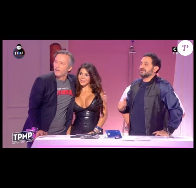 """Jean-Michel Maire est-il allé trop loin dans """"Touche pas à mon poste"""" sur C8 ? Le 14 octobre 2016. Ici avec Soraya."""